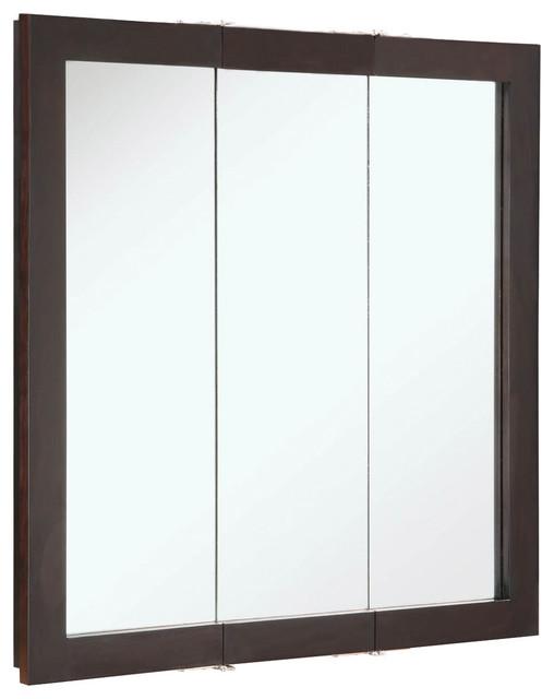 """Ventura 30""""x30"""" Medicine Cabinet Tri- Espresso Finish - Transitional - Medicine Cabinets - by ..."""