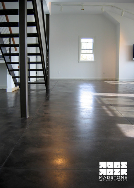 Black Stained Concrete Floor Modern Other By