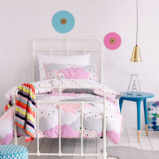 kids girls cloud quilted contemporary kids bedding melbourne