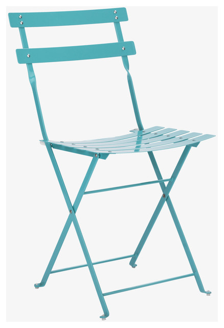 Parc Sea Blue Metal Folding Garden Chair Habitatuk