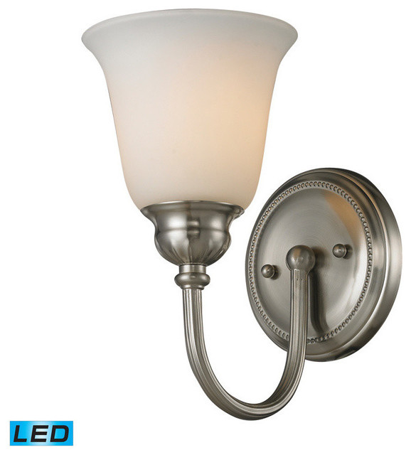 Elk Lighting Ventura 1 Light Bath In Brushed Nickel Contemporary Bathroom
