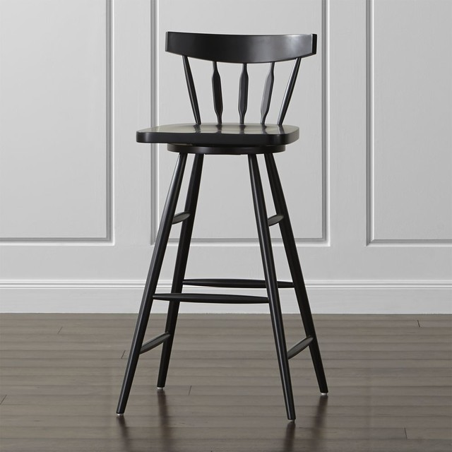 Willa Swivel Black Bar Stool Contemporary Kids Stools