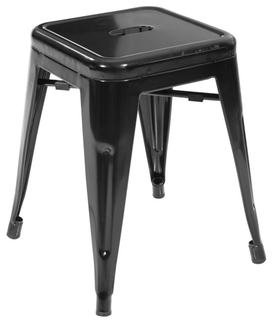 modern black mini bar stool industrial bar stools and counter stools by la furniture store. Black Bedroom Furniture Sets. Home Design Ideas