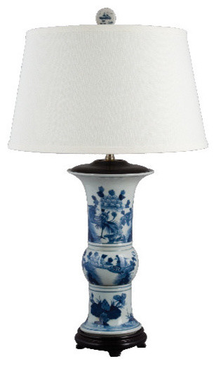 Like the blue asian style lamps
