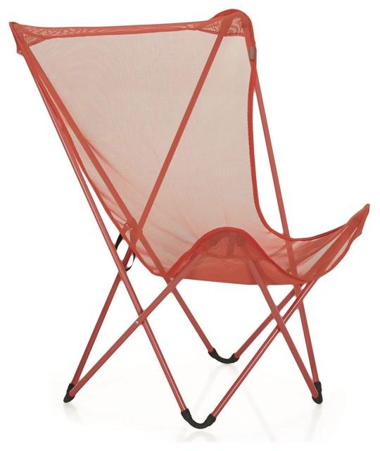 Maxi pop up fauteuil de repos pliant lafuma rouge for Chaise de jardin lafuma
