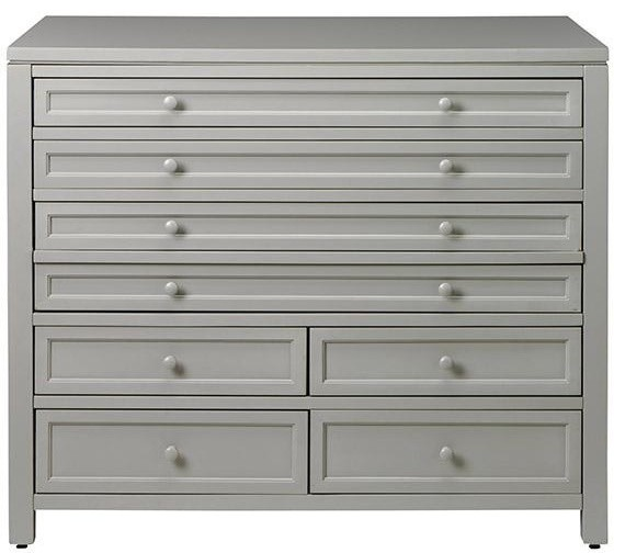 Martha Stewart Living Craft Space Eight-Drawer Flat-File Cabinet, Cement Gray - Contemporary ...