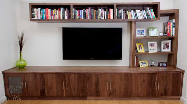 Modular Media Unit by KCS Design - Modern - Entertainment Centers And Tv Stands - los angeles ...