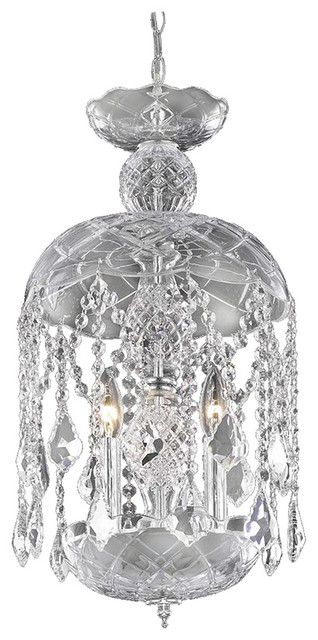 Rococo Collection Hanging Fixture Silver Shadow