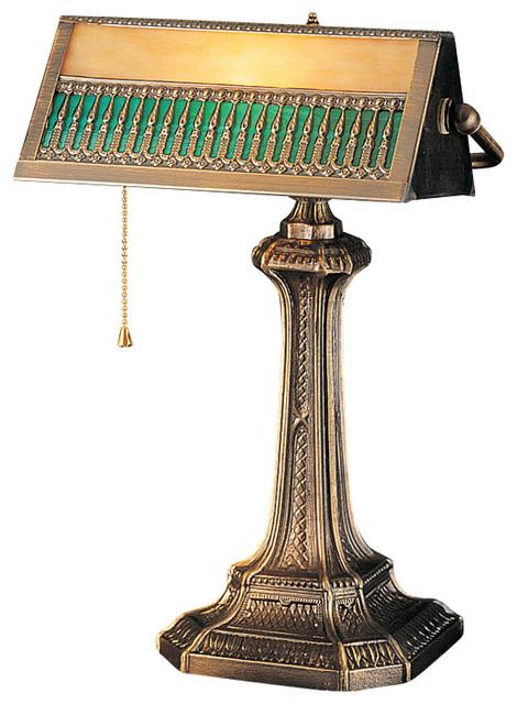 meyda lighting 31300 13 h gothic mission bankers lamp. Black Bedroom Furniture Sets. Home Design Ideas
