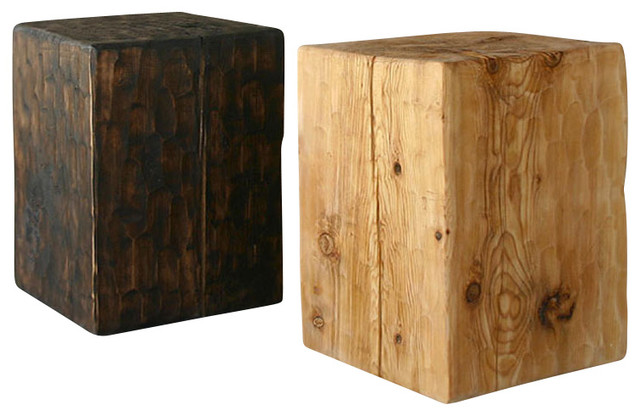 Santa Fe Solid Pine Cube Table Rustic Side Tables And End Tables Albuquerque By Pfeifer