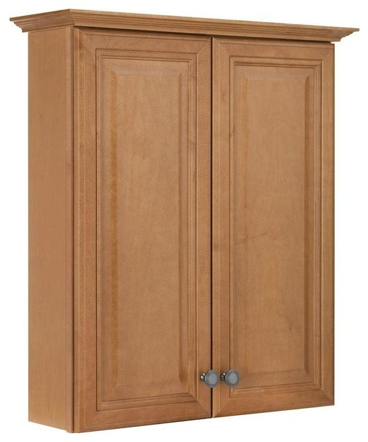 "Cambria W Maple Bath Storage Cabinet, Harvest, 25-1/2"" - Traditional - Bathroom Cabinets And ..."