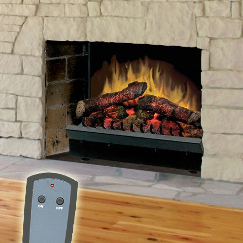 Dimplex 23 inch deluxe electric fireplace led log set for Indoor fireplace kits
