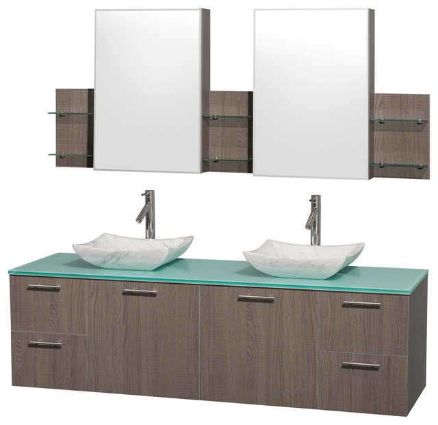 72 in. Vanity Set with Medicine Cabinet - Contemporary - Bathroom Vanities And Sink Consoles ...