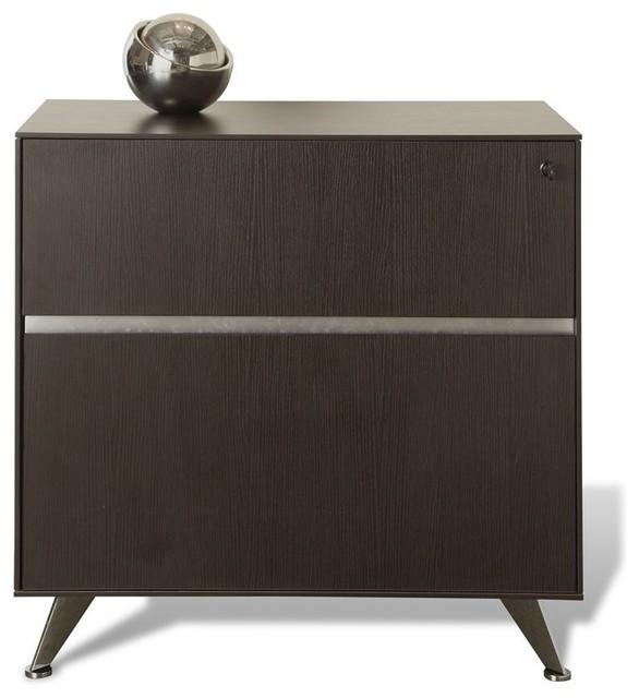 Popular Contemporary Espresso File Cabinet  Filing Cabinets