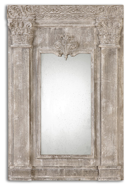 Uttermost Anicetus Stone Mirror Traditional Wall
