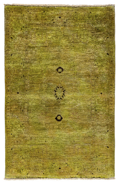 Ziegler Wool Area Rug, Green, 3x5 - Transitional - Area ...