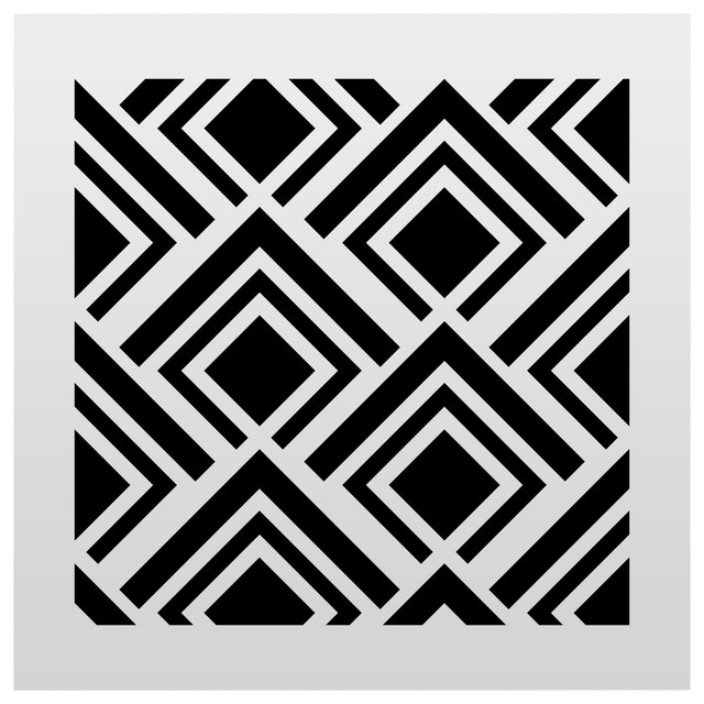 Geometric Pattern Stencil Small