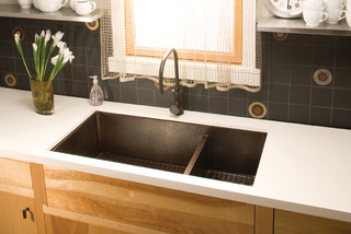 Cocina Duet Pro Copper Kitchen In Antique Sink By Native