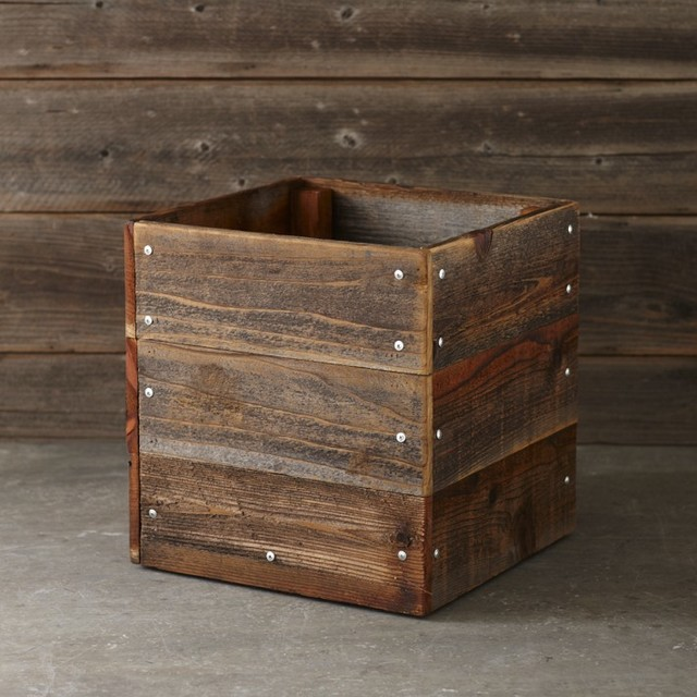 Made To Measure Bespoke Wooden Planters: Reclaimed Square Planter