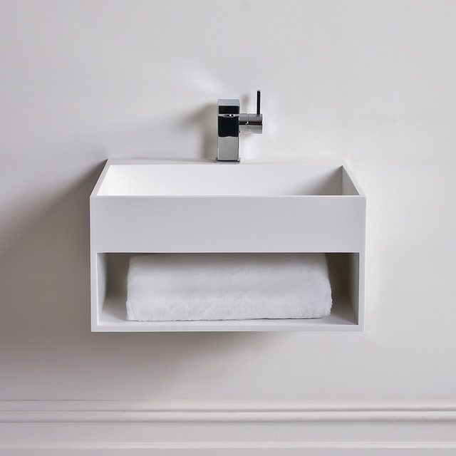 Stone Resin Sink : ... Solid surface stone resin wall hung basin 500 modern-bathroom-sinks