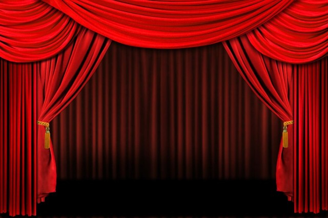 Red theatre curtains