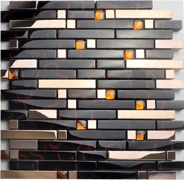 Metallic subway tile