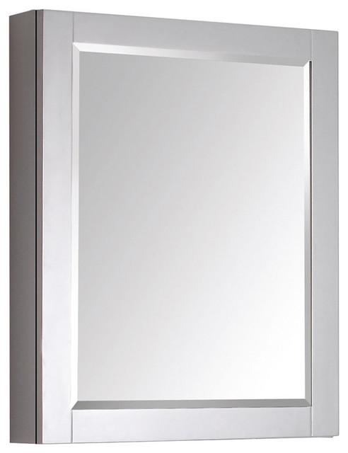 avanity 24 inch mirror cabinet contemporary medicine cabinets by