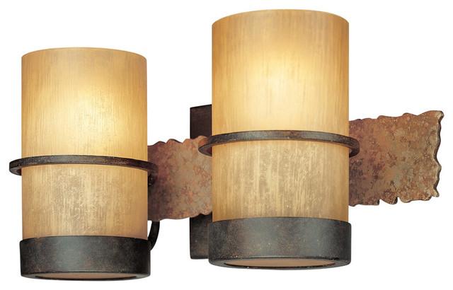 Rustic Bronze Vanity Lights : Troy-CSL Lighting B1842BB Bamboo 2 Light Bathroom Vanity Lights in Bamboo Bronze - Rustic ...