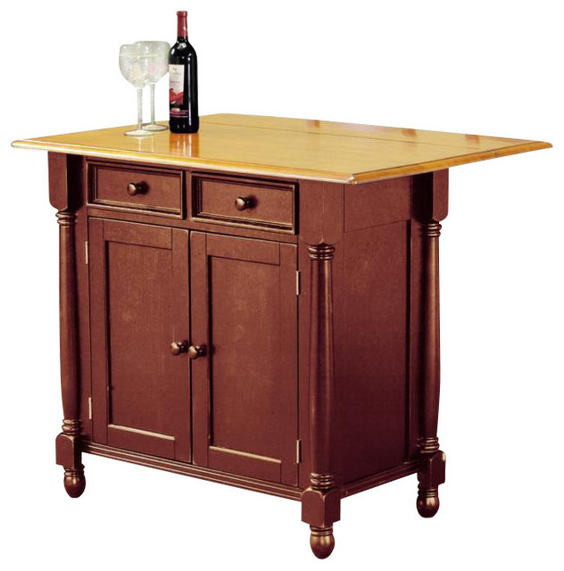 2 Drawer Island Contemporary Kitchen Islands And Kitchen Carts By Shopladder