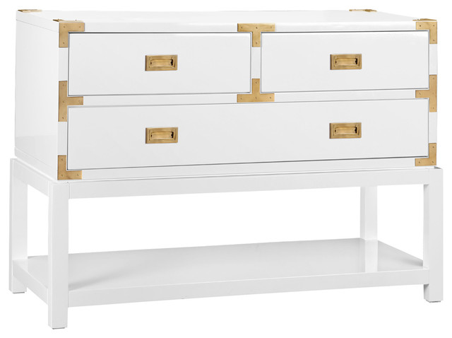 Bungalow 5 Tansu Console White Modern Furniture