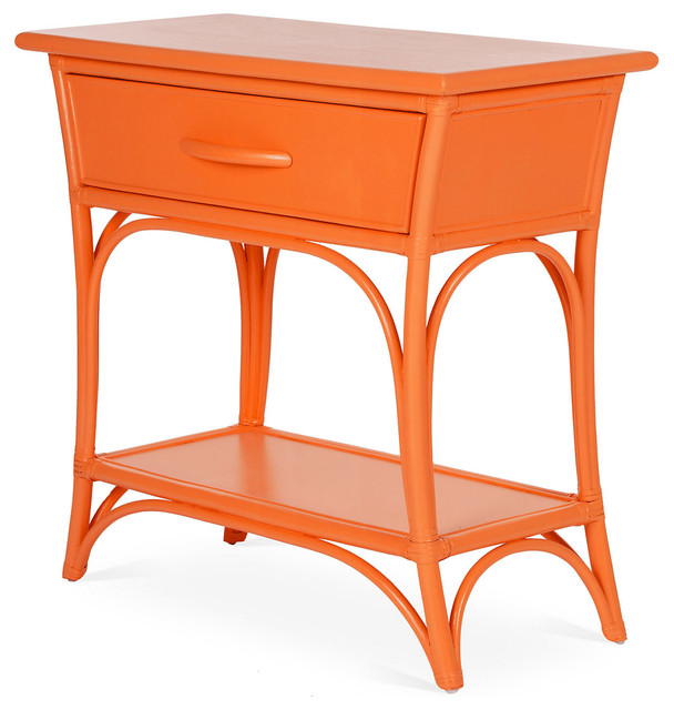 Hooker Furniture Windward Raffiaarm Dining Chair In Light: Augustine Nightstand, Orange Slice