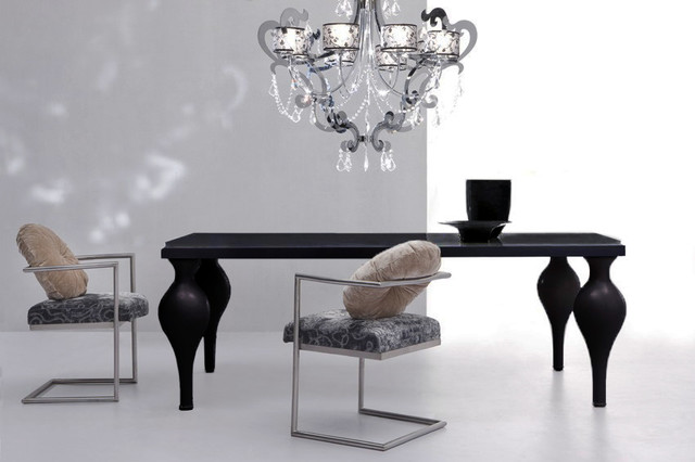 Devereaux Black Dining Table Modern Tables Dallas By The Interior Gallery
