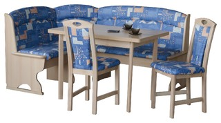 Modern Breakfast Nook Bern Blue Modern Dining Sets By German Furniture Warehouse