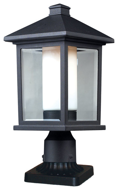 523phm pm mesa outdoor post light modern post lights for Contemporary outdoor post light fixtures