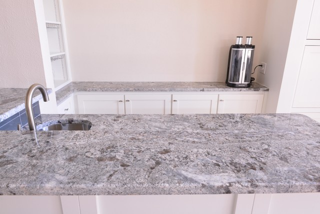 Ash Blue Granite Kitchen Amp Bar Traditional Dallas By