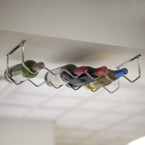 Under Cabinet Chrome 6-Bottle Wine Rack - Contemporary - Wine Racks - by Hayneedle