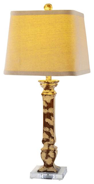 "Fangio Lighting 31 5"" Tall Resin And Acrylic Table Lamp Farmhouse Ta"