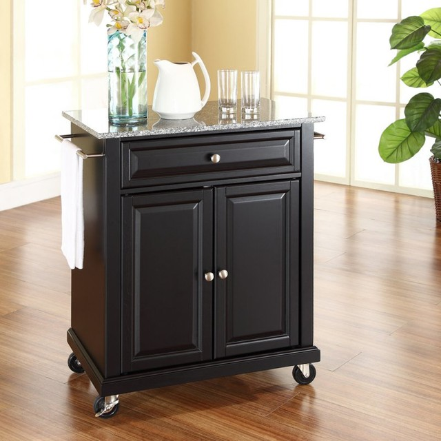 Portable Kitchen Island Style: Crosley Solid Granite Top Portable Kitchen Cart/Island