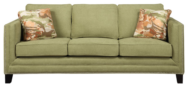 Carlton Sofa By Emerald Home Furnishings In Caprice Waterlily Transitional Sofas By Savvy Home