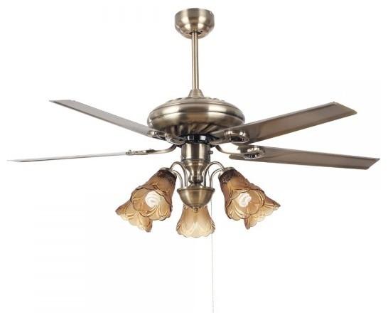 Ceiling fan with light quiet : Antique quiet blade ceiling fan light quot traditional