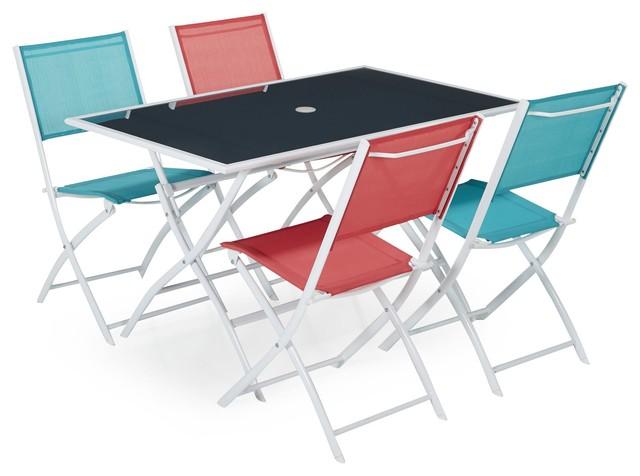 photos  regal ensemble chaises et table de jardin contemporain