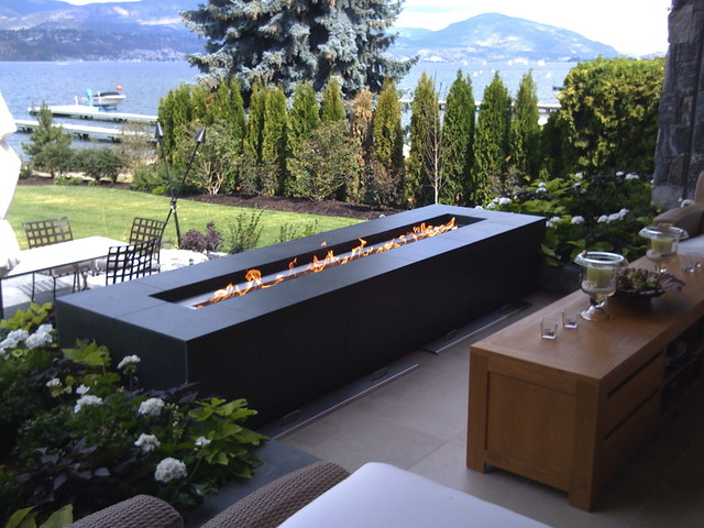 Custom outoor fire feature modern patio vancouver for Outdoor furniture kelowna