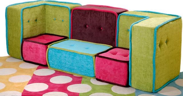 Allegra Colorfull Fabric Sofa modern kids sofas mexico city