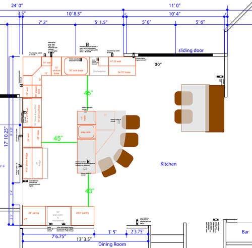 Kitchen lighting layout - Kitchen lighting design layout ...
