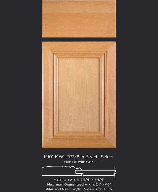 Mitered Cabinet Door Style In Beech Transitional