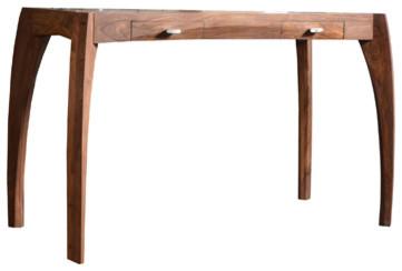Console bureau en bois de palissandre 120 luna exotique console par tik - Bureau bois exotique ...