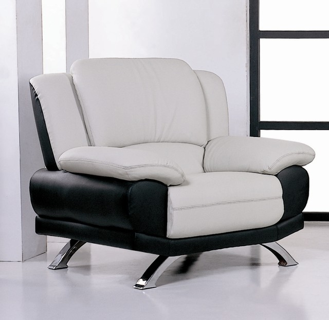 Leather living room chair gray black contemporary for Modern armchairs for living room