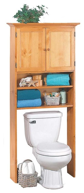 "Over The Toilet Shelf Heirloom Pine 67""Hx28 1/2""W ..."