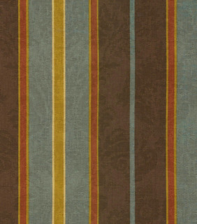 Waverly Newberry Stripe Fabric Bay Leaf Traditional