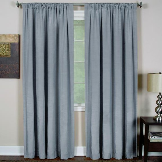 Color block linen curtain panels lined with poly cotton by for Window cotton design